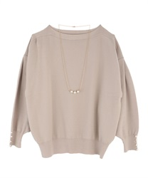 Washable dolman knit(Beige-Free)