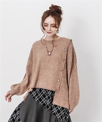 Washable knit pullover(Pale pink-Free)