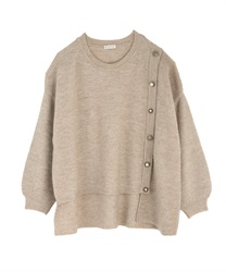 Washable knit pullover(Beige-Free)