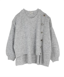 Washable knit pullover(Grey-Free)