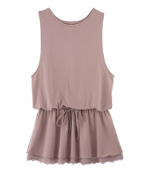 【axes femme yoga】Quick Dry Jersey Long Tank Tops(Pale pink-Free)
