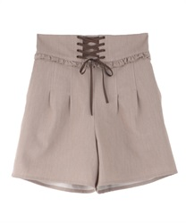 Lace-up shorts(Brown-Free)