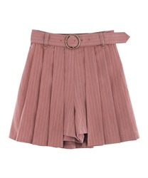 Pleated Layered Culottes(DarkPink-Free)