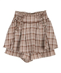 【10%OFF】Lace-up culotte(Brown-Free)