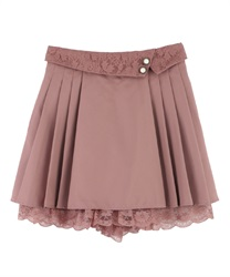 Folded Design Culottes(Pale pink-Free)