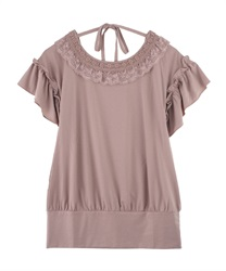【axes femme yoga】Quick Dry Jersey Long T-Shirt(Pale pink-Free)