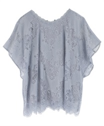 【2Buy20%OFF】Back chambray tops(Saxe blue-Free)
