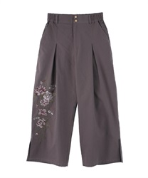 Embroidered pants(Lavender-Free)