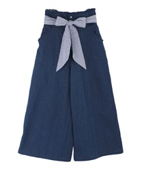 High waist wide pants(Wash-Free)