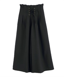 Tucked Design Wide Pants(Black-Free)