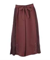 Side Pleated Wide Pants(DarkPink-Free)