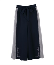 Side Pleated Wide Pants(Navy-Free)