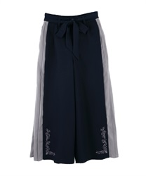 Side Pleated Wide Pants