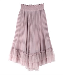 Pleated flared gaucho(Pale pink-Free)