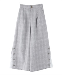 Lacework Wide Pants(Grey-Free)