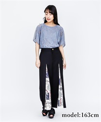 Scarf Cut Wide Pants(Black-Free)