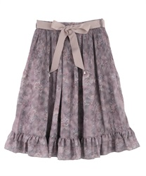 Shading Pattern Pleated Skirt