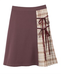 Message Ribbon Skirt(DarkPink-Free)