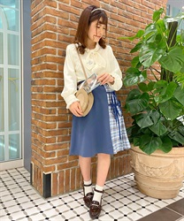 Message Ribbon Skirt(Blue-Free)
