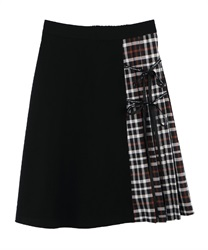 Message Ribbon Skirt(Black-Free)