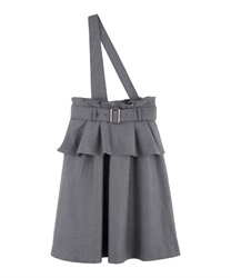 One shoulder jumper skirt(Grey-Free)