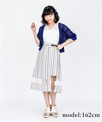 Slit Design Pleated Skirt