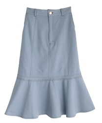 Flare tight skirt(Saxe blue-Free)
