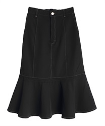Flare tight skirt(Black-Free)
