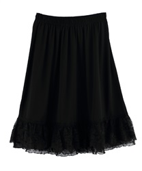 Polka dots Lace Petticoat with Pearl and Beads Decoration(Black-Free)