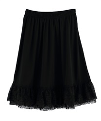 Polka dots Lace Petticoat with Pearl and Beads Decoration