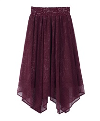Tulle and Lace Irehem Skirt(DarkPink-Free)