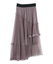 【2Buy10%OFF】Ashime tulle skirt(Purple-Free)