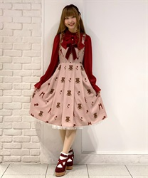 Present bear jumper skirt(Pale pink-Free)