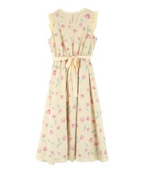 【2Buy10%OFF】Tulip Pattern Dress [Ayana Shibata Collaboration].(Yellow-Free)