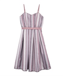 Stripe pattern dress(Pale pink-Free)