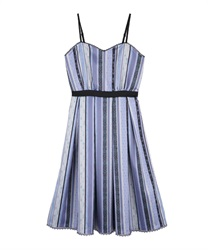 Stripe pattern dress(Purple-Free)