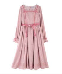 Vintage satin one-piece(Pale pink-Free)