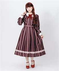 Stripe dress(Wine-Free)