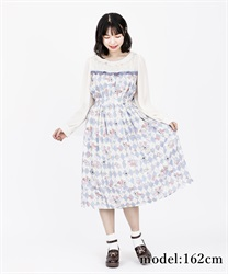 【2Buy10%OFF】Icing cookie dress(Saxe blue-Free)