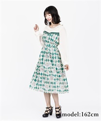 【2Buy10%OFF】Icing cookie dress(Green-Free)