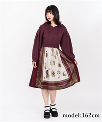 Scarf Pattern Hoodie Dress