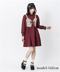 【2Buy10%OFF】Cut dress with bustier(Wine-Free)