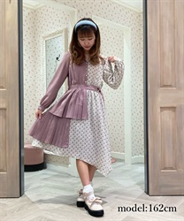 Flower bicolor ashime dress