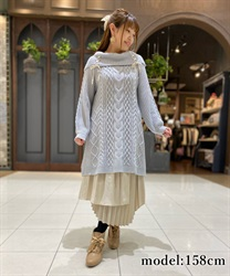 Double lace up knit tunic