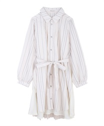 Back stripe tunic(White-Free)