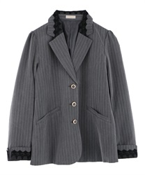 Back pleated jacket(Grey-Free)