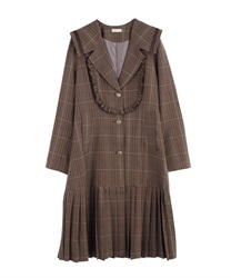 Sailor long jacket(Brown-Free)
