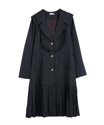 Sailor long jacket(Navy-Free)