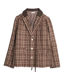 Tarta-check jacket(Brown-Free)