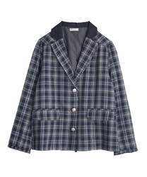 Tarta-check jacket(Navy-Free)